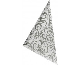 треугольная зеркальная серебряная плитка алладин-2 тзсал-2
