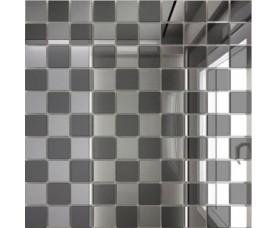 мозайка зеркальная серебро + графит с50г50 дст чип 25 х 25