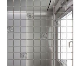 мозайка зеркальная серебро + хрусталь с90х10 дст чип 25 х 25