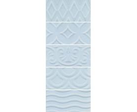 настенная плитка 16015 авеллино голубой структура mix