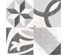 керамогранит apeks декорированный серый (as4r092d)