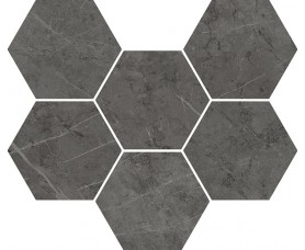 мозайка charme evo antracite mosaico hexagon нат