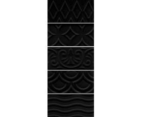 настенная плитка 16016 авеллино чёрный структура mix