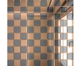 мозайка зеркальная бронза + графит б50г50 дст чип 25 х 25
