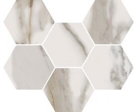 мозайка charme evo calacatta mosaico hexagon нат