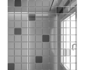 мозайка зеркальная серебро + графит с90г10 дст чип 25 х 25