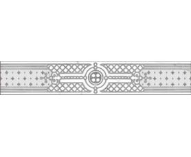 бордюр classic marble фриз g-270/g/f02 белый