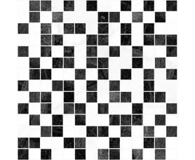 мозайка crystal чёрный+белый