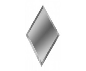 зеркальная серебряная плитка ромб рзс1-02