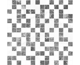 мозайка crystal серый+белый