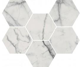 мозайка charme evo statuario mosaico hexagon нат