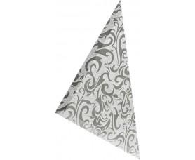треугольная зеркальная серебряная плитка алладин-3 тзсал-3